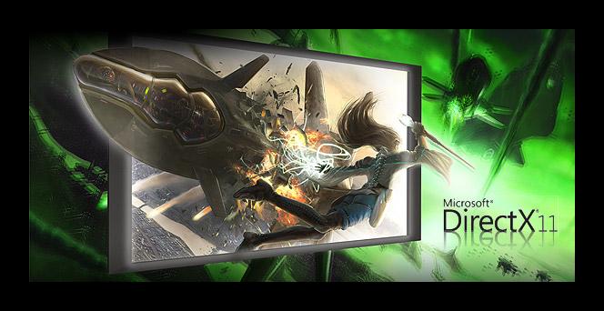 Картинка Монитор с надписью DirectX 11
