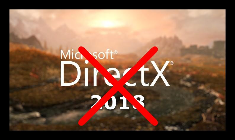 Красочная картинка с надписью DirectX 2018