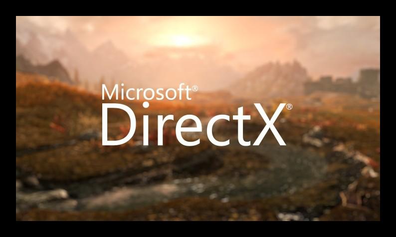 Красочная картинка с надписью DirectX