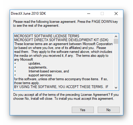 Начало распаковки DirectX Runtime