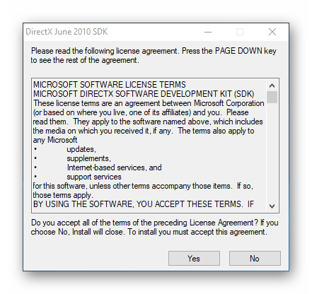 Распаковка файлов DirectX June 2010